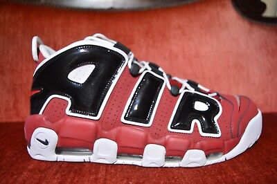 NIKE AIR MORE UPTEMPO '96 Red Black  921948 600 2017 Chicago Bulls Size 14 NEW