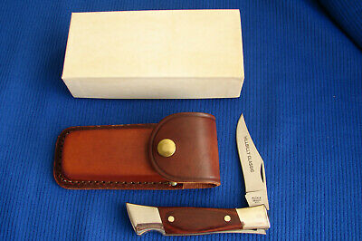 "VINTAGE MCGREW ""HILLBILLY CLASSIC"" LOCKBACK HUNTER WITH SHEATH, BOX, MADE IN USA"