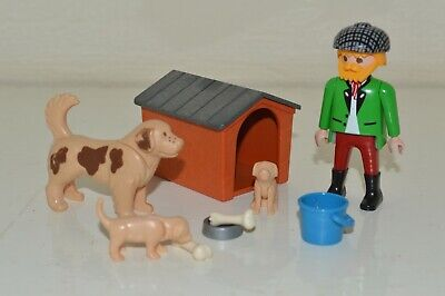 Playmobil Farm & Country 3005 Farmer Man, Dog Kennel Puppies Set & Accessories