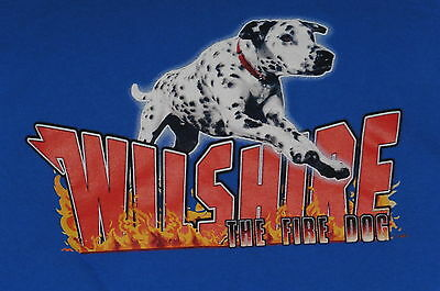 """""""Wilshire the Fire Dog- LAFD """" T-Shirt – Firefighting/TV Related Item(XL)"""
