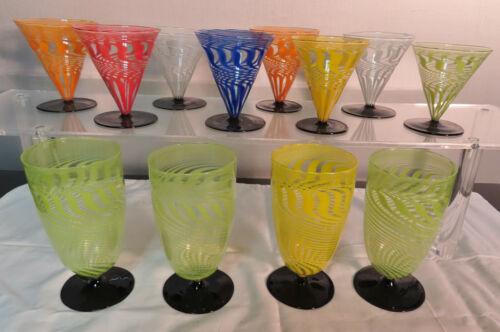 BIMINI WERKSTATTE LOUSCHA SET OF 12 SPIRAL RIBBON  GLASSES