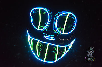 El Wire Cheshire Cat RaveParty Cosplay Halloween Costume Vendetta Handmade Mask  - Cheshire Cat Halloween Mask