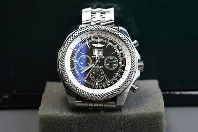 Breitling Bentley Wheel-spoke Reverse 6.75 Chronograph Black Index Dial Watch
