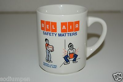 WOW Vintage BEL AIR Grocery Store CA Funny Safety Matters Promo Coffee Mug (Bel Air Stores)