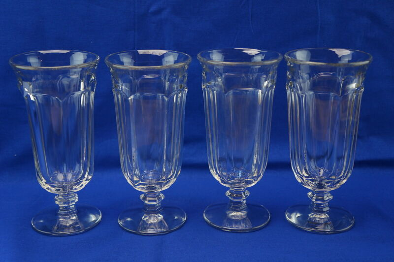 Imperial Old Williamsburg Clear (4) Iced Tea Glasses, 7 1/4""