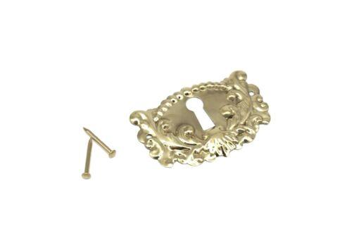 "2"" Keyhole Cover Plate Escutcheon Furniture Brass Key Hole Lock Plate Cover"