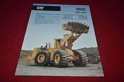Caterpillar 992C Wheel Loader Dealer's Brochure DCPA6 ver2