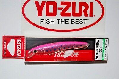 "yo zuri pins minnow sinking 2 3/4"" 3/16oz f1165-shpy hot pink trout"
