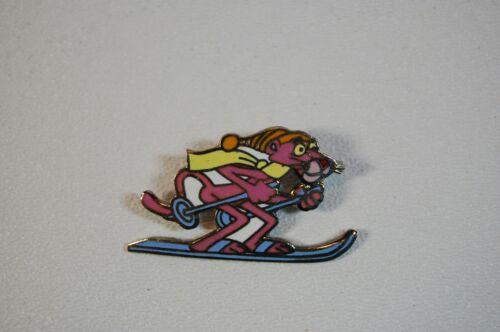 1981 United Artists Pink Panther Skiing Enamel Pin
