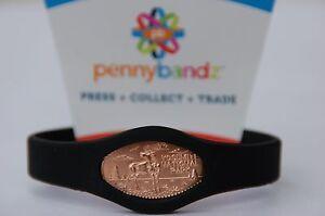Pennybandz Elongated Pressed Penny Holder Wristband Adult Large Black..Press On!