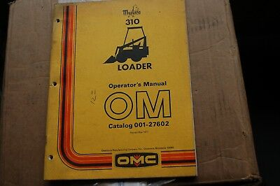 Mustang 310 Skid Steer Loader Owner Operator Operation Maintenance Manual Book