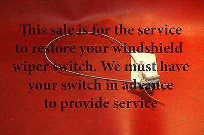 1958 62 YOUR WINDSHIELD WIPER SWITCH RESTORED W/NEW CABLE - CORVETTE - PERFECT