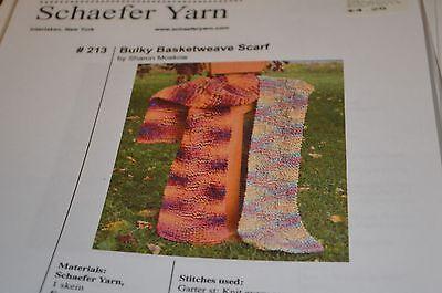 Schaefer Knitting Pattern 213 Bulky Basketweave Scarf