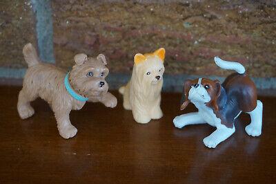 BARBIE Figure Doll Dog Puppy Lot Complete Set Wee 3 Friends Beagle Terrier Lhasa