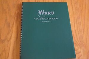 Ward Class Record Book 67 L Green Teacher Grade Book