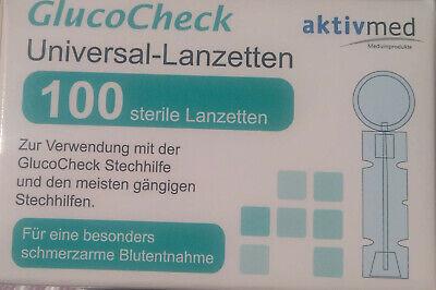 GlucoCheck - Universal - Lanzetten 100 Stück