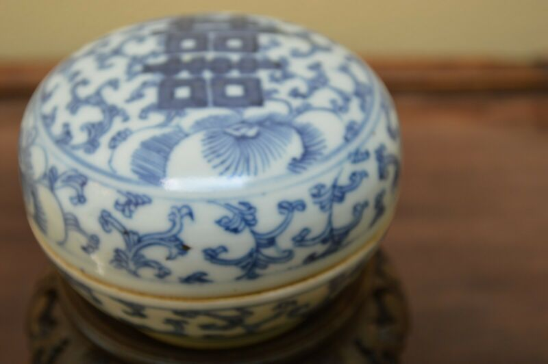 Chinese Antique Qing Dynasty Ink Paste Box, Porcelain, Very Good Condition