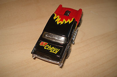 Matchbox Superfast 4d '57 Chevy - Black w/flames - Premiere Collection