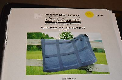 Building Blocks Baby Blanket Oat Couture Knitting Pattern