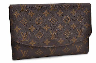 Authentic Louis Vuitton Monogram Pochette Rabat Clutch Bag Old Model LV 88138
