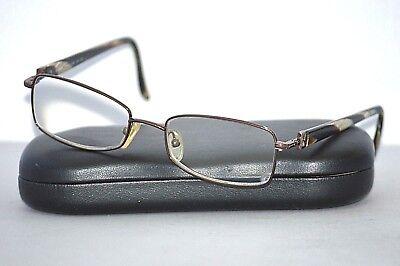 8315d4704bb7 FENDI F579 953 51-17-135 Brown Metal Plastic Women's Eyeglasses Frames ITALY