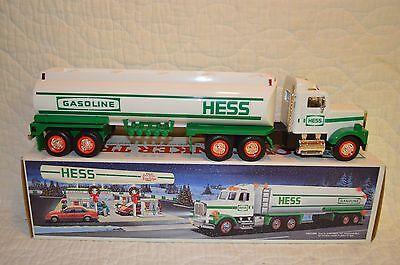 1990 HESS GASOLINE TOY TANKER TRUCK NIB MINT