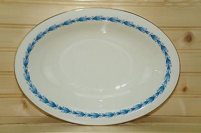 "Castleton Classic Blue Oval Vegetable Serving Bowl 11 1/4"" x 8 1/4"""