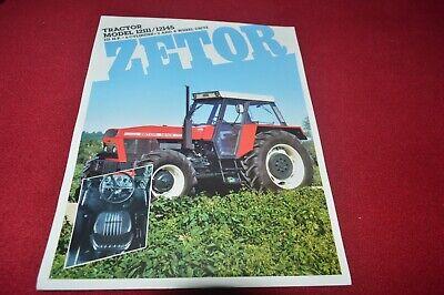 Używany, Zetor 12111 12145 Tractor Dealers Brochure CDIL na sprzedaż  Wysyłka do Poland