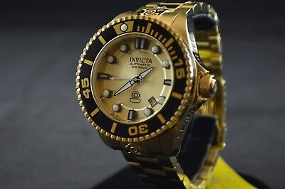 Invicta Grand Diver Automatic Gold Dial Gold-plated Men's Watch 19807