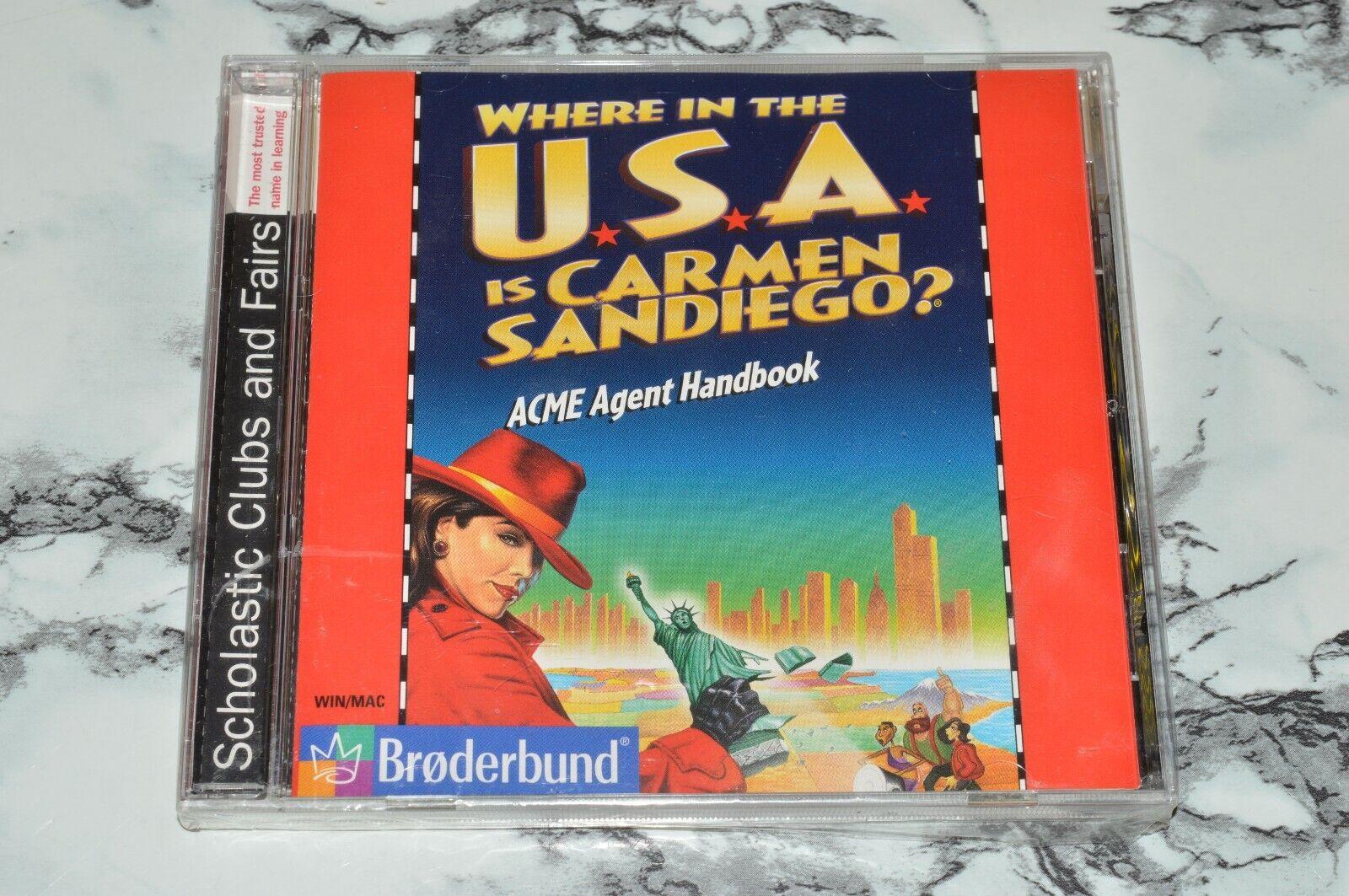 NEW - Where In The U.S.A. USA Is Carmen Sandiego Windows / MAC CD-ROM  - $11.18