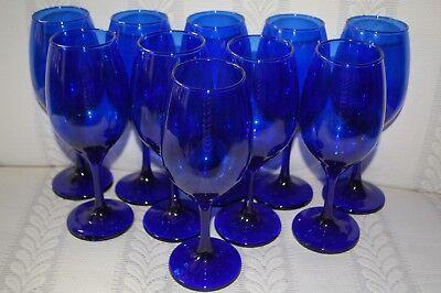 Cobalt Blue Stemmed Wine Glass NEW Multiples Available