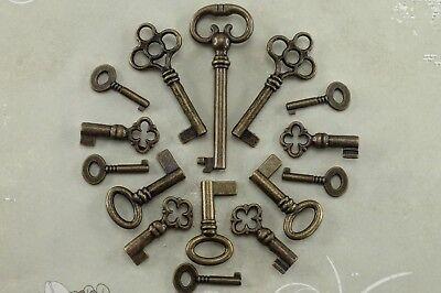 Vintage Style Open Barrel Skeleton Key Furniture Cabinet -Assorted (Lot of 15) ()