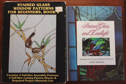 2xGreat books on Stained Glass & Leadlight. Patterns for beginner