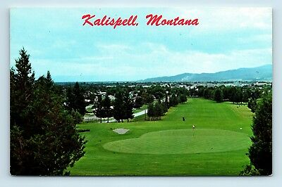 Kalispell, MT - GOLF COURSE BIRDSEYE AIR VIEW - VINTAGE POSTCARD - K2 for sale  Seattle