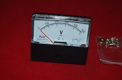 1pc Ac 0-500v Analog Voltmeter Analogue Voltage Panel Meter 670 6770mm