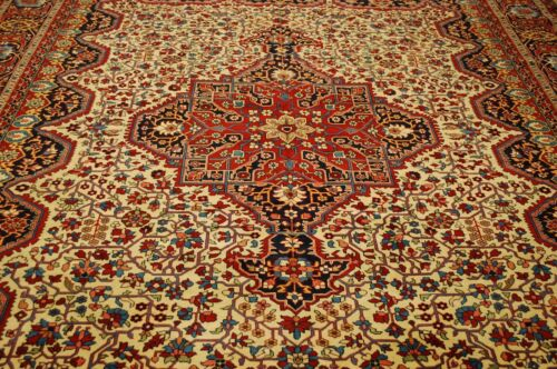 C1910s Antique Signed Prsian Saruk Ferahan Rug 9.6x12.9 High Kpsi_room Size