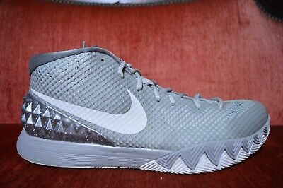 CLEAN Nike Air Kyrie 1 Wolf Grey Pewter White Size 11.5 705277-010 Gray