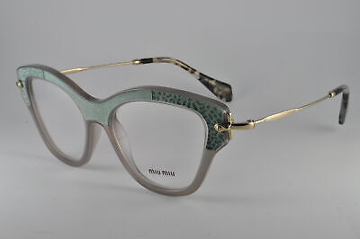 Miu Miu Eyeglasses MU 07OV U6S1O1 Opal Clay, Size (Miu Miu Kids)