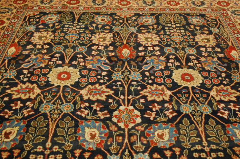 Pre 1900s Antique Highly Decorative_exclusive Persian Tabriz Rug 8.2x11.5
