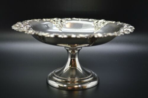 """Wallace Grande Baroque Sterling Silver Non-Weighted Compote - 6"""" - 123g"""