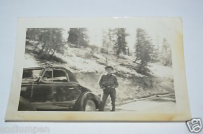 WOW Nice Vintage Convertible Car Black & White 1930s Photo Photograph Rare Convert Black And White Photos