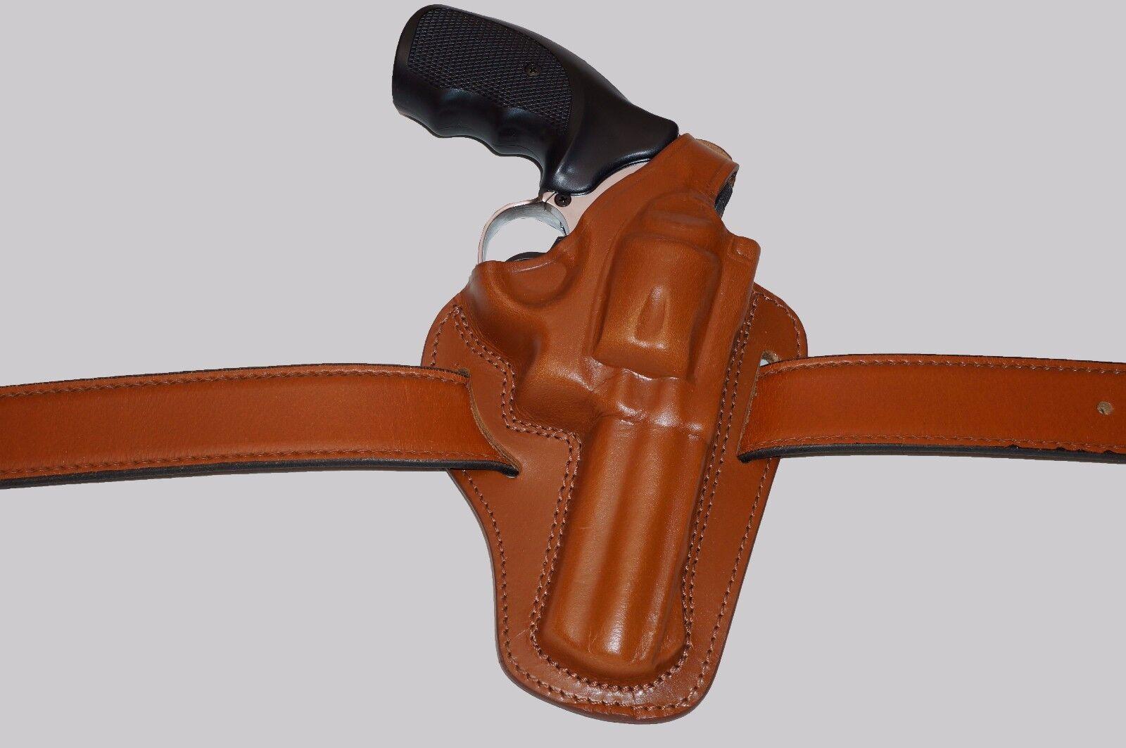 K305-357 Pancake Leather Holster Thumb Break For 357 Magnum