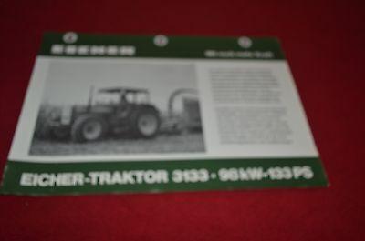 Eicher 3133 Tractor Dealer's Brochure DCPA2