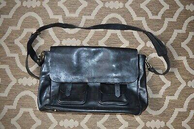 **AWESOME** ACNE STUDIOS Vintage Unisex Heavy Leather Messenger / Satchel Bag