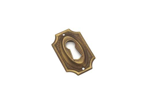 1 5/8 Keyhole Cover Plate Escutcheon Furniture Key Hole Lock Plate Antique Brass