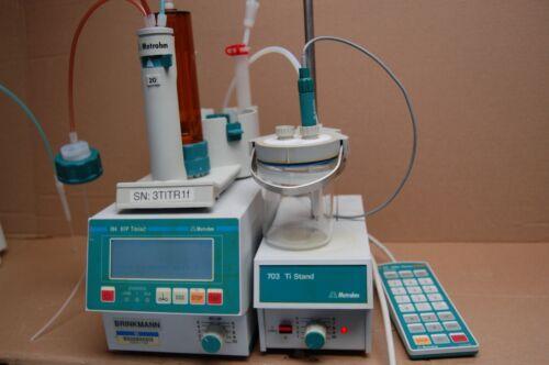 Metrohm  Brinkmann 784 KFP Titrino 703 Ti stand  titrator  mixer electrode 6.033