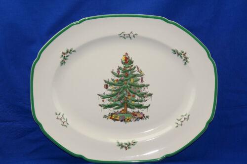 "Spode Christmas Tree Serving Platter, 16 1/2"" ENGLAND"