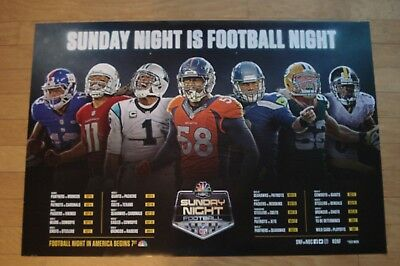 Exclusive Nbc Sunday Night Football Television Poster  Not Sold In Stores