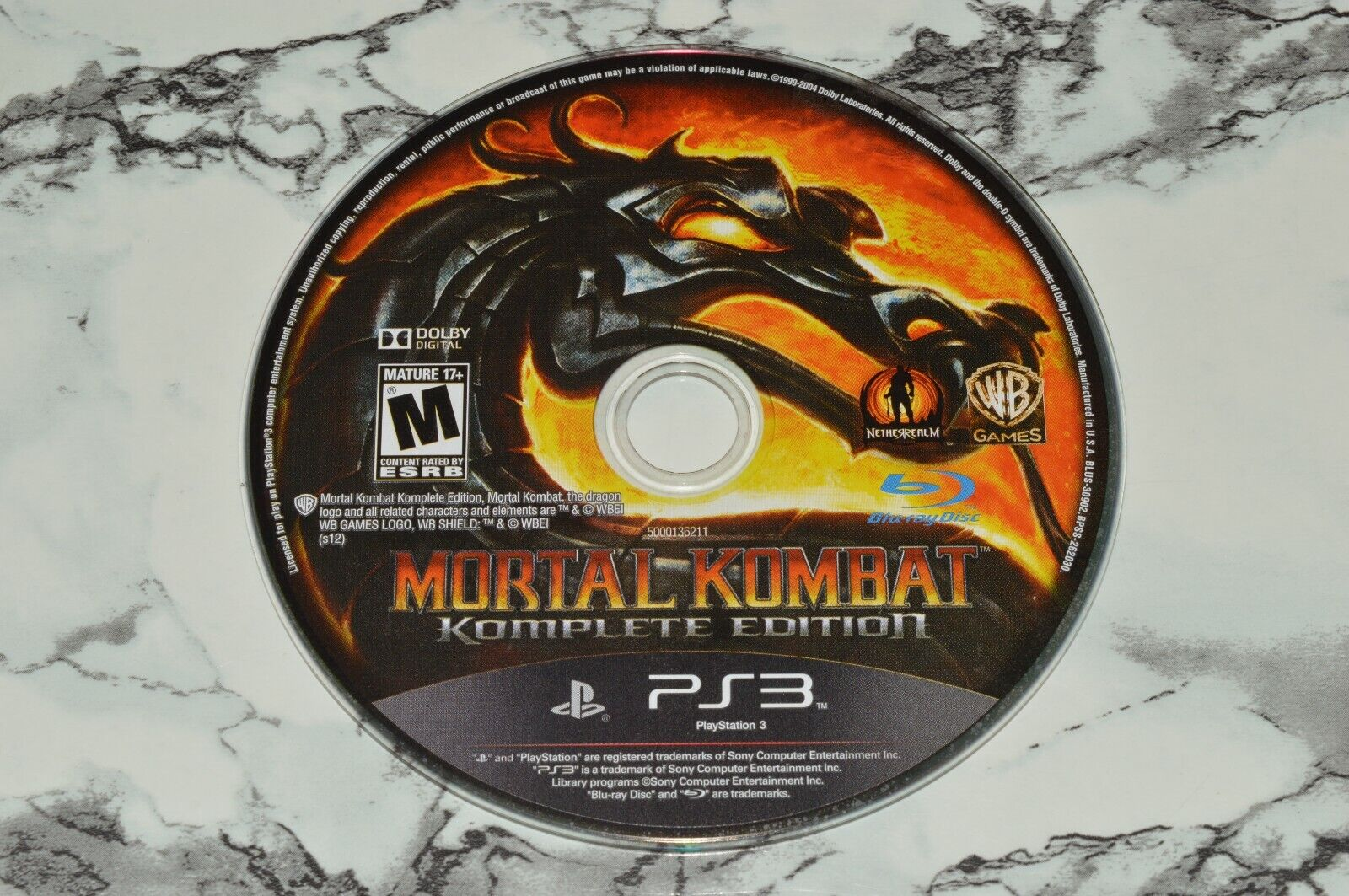Mortal Kombat - Komplete Edition Sony PlayStation 3 PS3 -- GAME DISC ONLY - $12.68