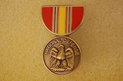 US USA National Defense Service Medal Military Hat Lapel Pin